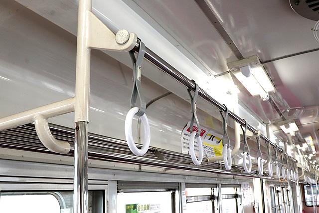 関東鉄道キハ532形 吊革