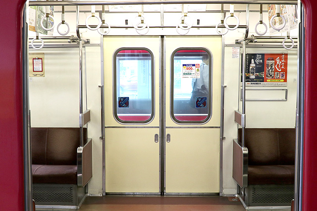 名鉄6800系(3・4次車)客用ドア