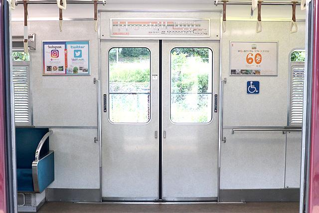 能勢電鉄3100系 客用ドア