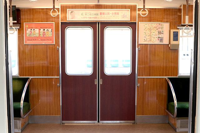 能勢電鉄5100系 ドア