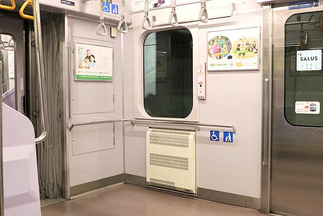 横浜高速鉄道Y500系 車いすスペース