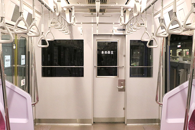 横浜高速鉄道Y500系 乗務員室背面