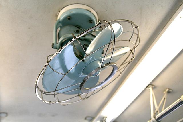 熊本電鉄5000形 扇風機