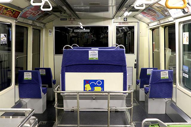 東京モノレール1000形(新塗装車) 乗務員室背面
