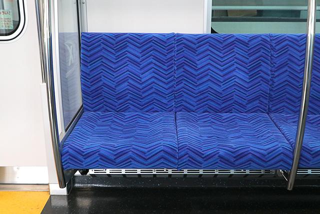 つくばエクスプレスTX-3000系 座席モケット