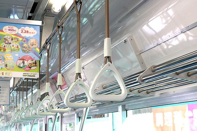 名鉄3150系(3次車)吊革