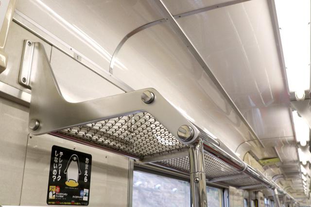 西武9000系(ワンマン車)荷棚