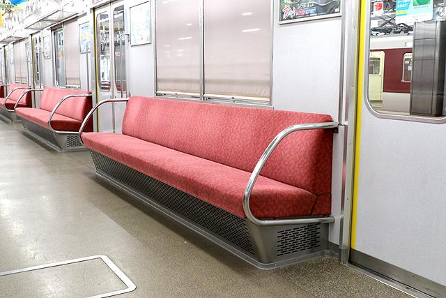 近鉄2610系(X22編成)座席、袖仕切り、カーテン