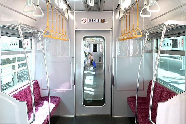 名鉄3150系(3次車)貫通路、号車表示器