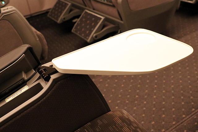 JR東海N700A(グリーン車)肘掛テーブル