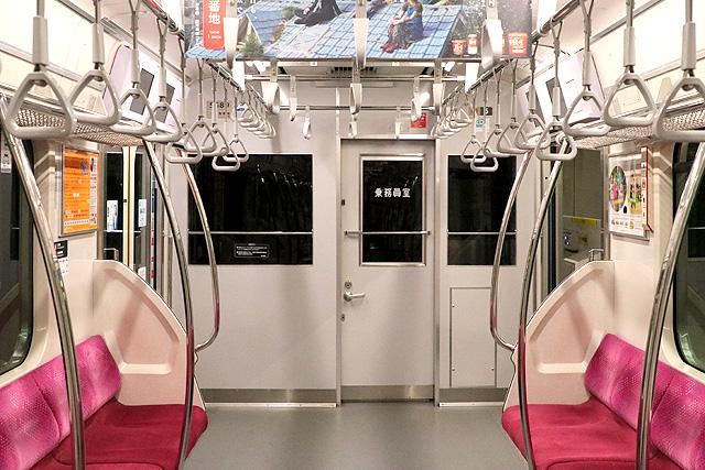 東急5080系(7次車)乗務員室背面