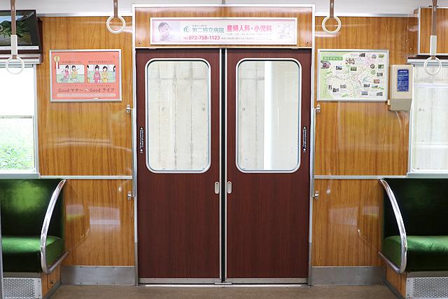 能勢電鉄5100系(復刻車両)客用ドア