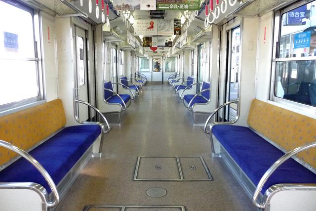京阪5000系 5扉運用時の車内