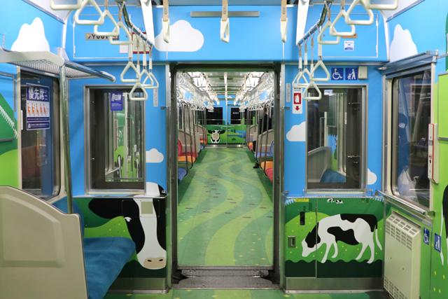 横浜高速鉄道Y000系うしでんしゃ 貫通路