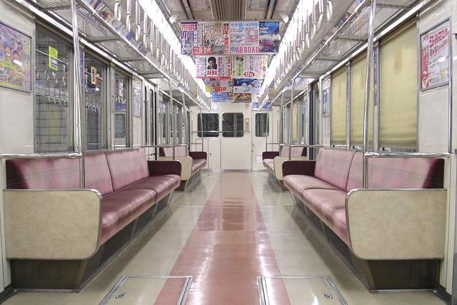 OsakaMetro 66系 初期車・未更新車(登場時) 車内