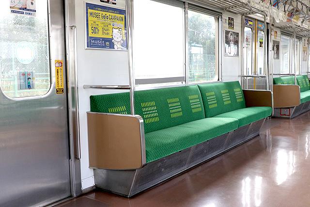 JR東日本205系1100番台 座席、袖仕切り、カーテン