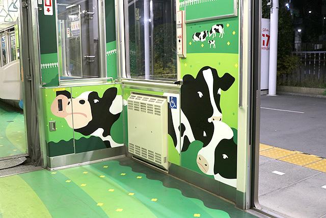 横浜高速鉄道Y000系うしでんしゃ 車いすスペース