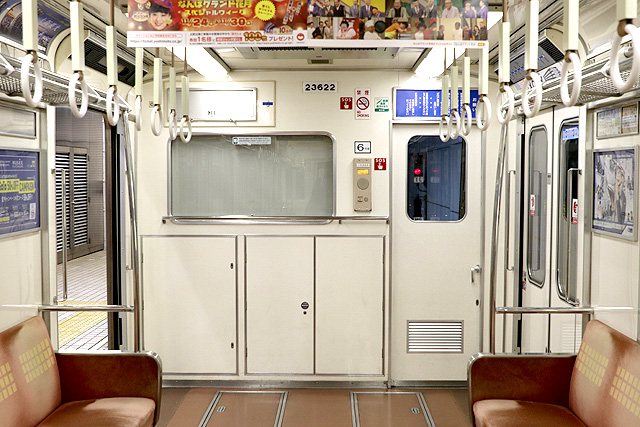 Osaka Metro 23系(最終増備車)乗務員室背面