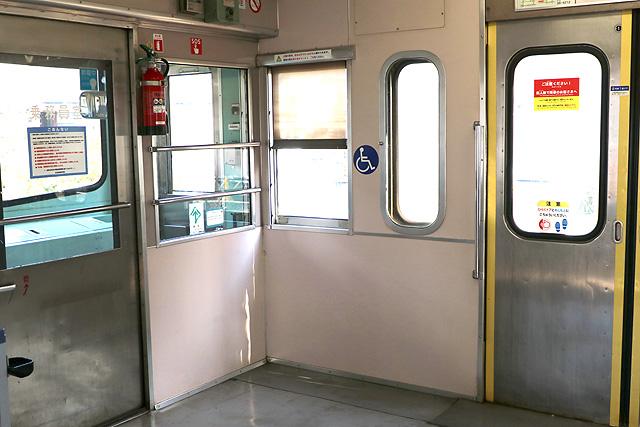 近江鉄道800系 車いすスペース