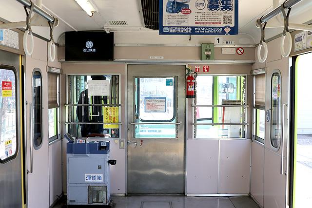 近江鉄道800系 乗務員室背面