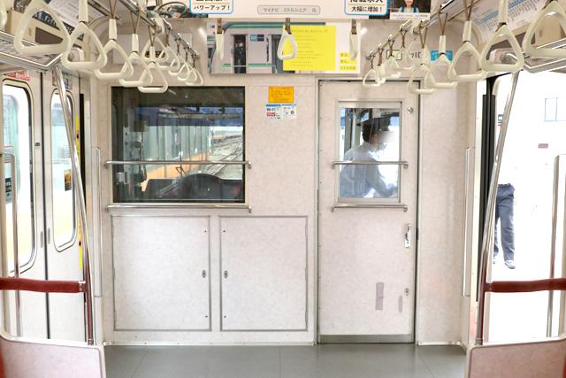 東京メトロ07系 乗務員室背面