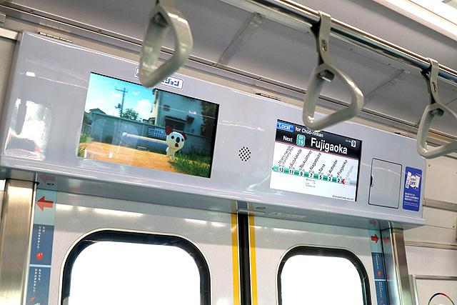 東急5000系(7次車)LCD車内案内装置