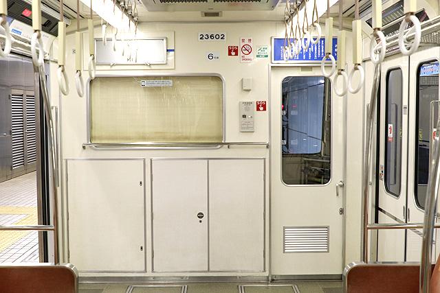 Osaka Metro23系(初期リニューアル車)乗務員室背面