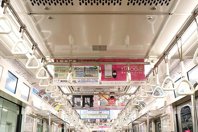 横浜市営地下鉄3000S形 天井部