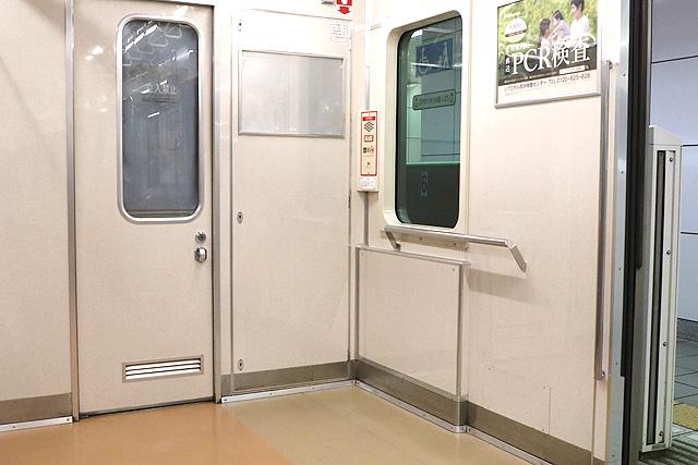 横浜市営地下鉄3000S形 車いすスペース