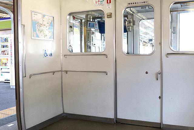 近鉄6413系 車いすスペース