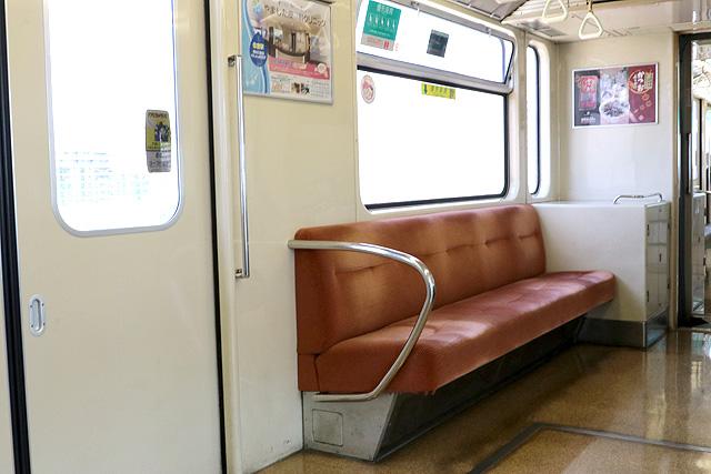 神戸新交通1000型(最終編成)優先座席