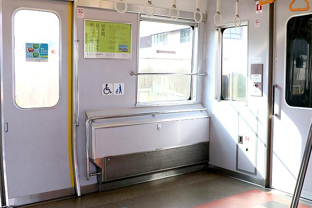 近鉄7020系 車いすスペース