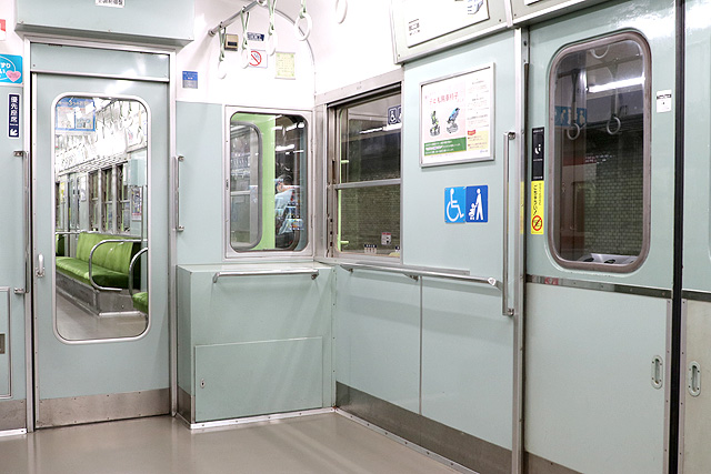 神鉄1150形(第1編成)車いすスペース