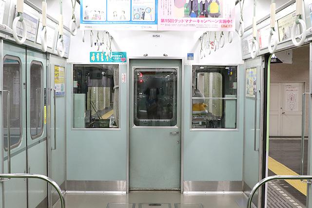 神鉄1150形(第1編成)乗務員室背面