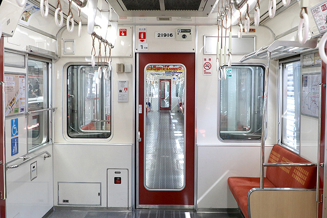 Osaka Metro21系(1996年増備車)貫通路